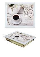 Поднос с подушкой Утренняя чашка кофе