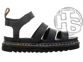 Женские сандалии Dr. Martens Blaire Hydro Leather Gladiator Sandals Black 24235001