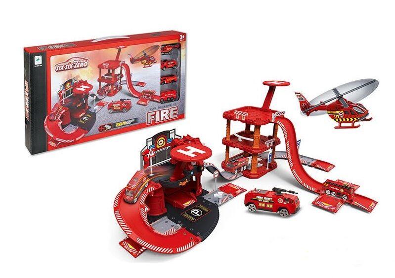 """Игровой набор гараж """"six-six-Zero: Пожарная станция"""""""
