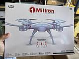 Квадрокоптер 1 million c hd камерой и WIFI, на пульте, радиоуправляемый коптер, летающий дрон с камерой Белый, фото 3