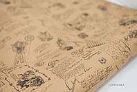 "Крафт бумага ""Ретро"" 1 рулон, размер: 70 см * 800 см"