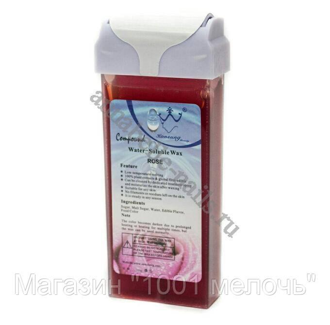 SALE! Воск для депиляции в картридже роликовый Konsung Beauty Роза, 150г