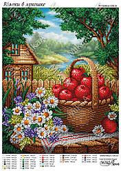 """Схема для частичной зашивки бисером - """"Яблоки в лукошке"""""""