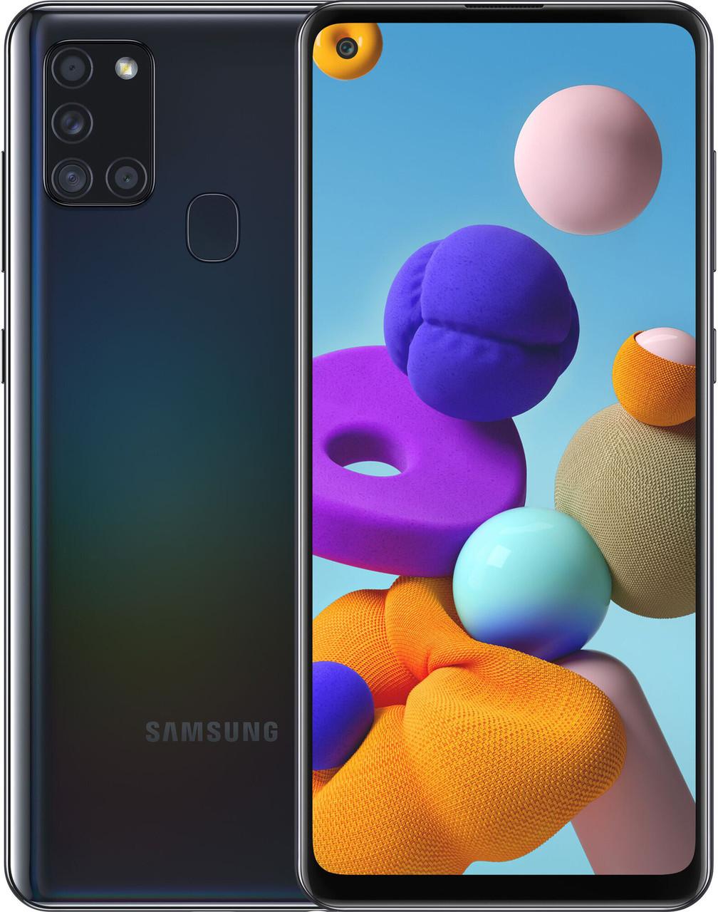 Смартфон Samsung Galaxy A21s 3/32GB Black (SM-A217FZKNSEK)