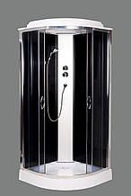 Гидромассажный бокс Aquastream GLS 100 Black Low/ Аквастрим Гидромассажная кабина бокс
