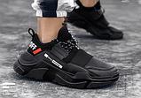 Кросівки чоловічі чорні FXXK Off, фото 4