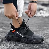 Кросівки чоловічі чорні FXXK Off, фото 2
