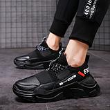 Кросівки чоловічі чорні FXXK Off, фото 5