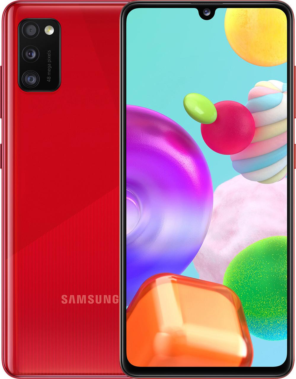 Смартфон Samsung Galaxy A41 4/64GB Red(SM-A415FZRDSEK)