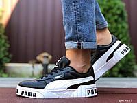 Мужские демисезонные кроссовки в стиле Puma Cali Bold, черно белые
