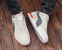Мужские летние кроссовки Puma Jogger белые (пума джоггер, реплика), фото 1