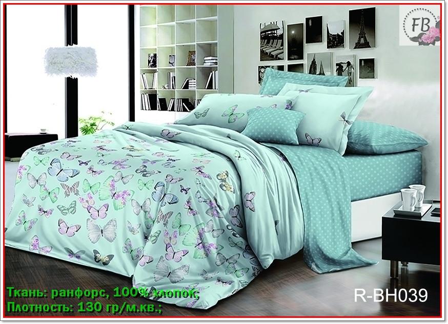 Постільна білизна ранфорс, комплект постільної білизни 100% бавовна з компаньйоном R-BH039 Сімейний