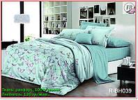 Постельное белье ранфорс, комплект постельного белья 100% хлопок с компаньоном R-BH039 Евро