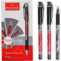 """От 12 шт. Ручка """"Max-O-Miles"""" RADIUS принт 12 штук, черная 779290 купить оптом в интернет магазине От 12 шт."""