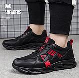 Кроссовки мужские черно-красные, фото 4