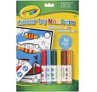 Набор для творчества Crayola раскраска по номерам с фломастерами (7321)