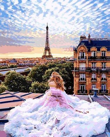 Картина по номерам Babylon Парижские мечты 50*65 см (в коробке) арт.VPS1013, фото 2