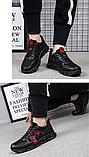 Кроссовки мужские черно-красные, фото 7