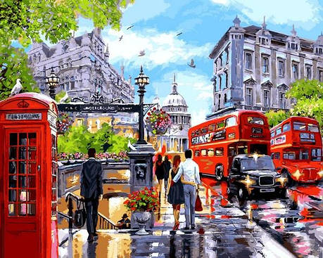 Картина за номерами Babylon Весна в Лондоні 50*65 см арт.VPS1242, фото 2