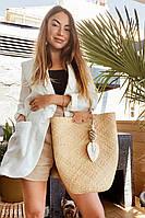 Плетеная соломенная сумка-шоппер UN