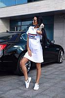 Белое спортивное платье поло