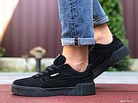 Мужские замшевые кроссовки в стиле Puma Cali Bold, черные
