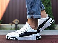 Мужские демисезонные кроссовки в стиле Puma Cali Bold, белые с черным