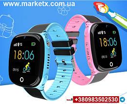 Цвет черный. Модель HW11. Детские умные смарт часы, водонепроницаемые, GPS, с камерой., фото 2