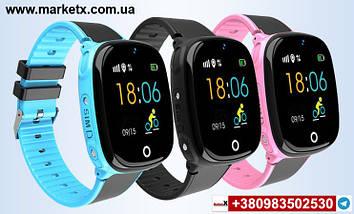 Цвет черный. Модель HW11. Детские умные смарт часы, водонепроницаемые, GPS, с камерой., фото 3