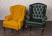 Кожанное классическое кресло Терри для кабинета, офиса,библиотеки, фото 1