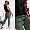 Женские стильные штаны из джинс бенгалина