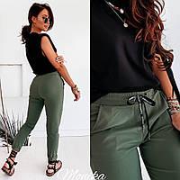 Женские стильные штаны из джинс бенгалина, фото 1