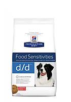 Hills PD canine d/d лосось-рис - 2 кг