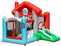 Детский надувной игровой центр батут Happy Hop Happy House с насосом Разноцветный (bat_9315)