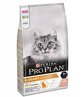 Pro Plan elegant сухой корм для кошек с чувствительной кожей с лососем - 0,4 кг