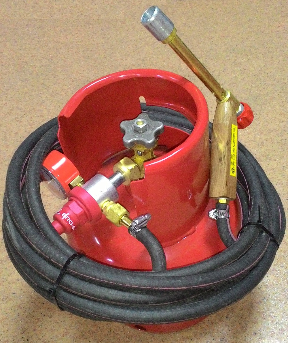 Комплект для пайки кабелів, мідних труб і