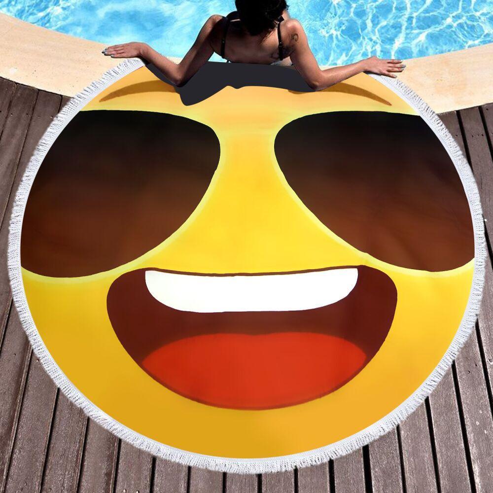 Пляжное полотенце / покрывало Towel Beach Holiday  круглое с бахрамой 150x150 см