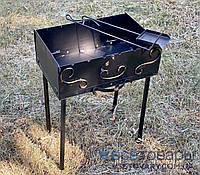 Мангал раскладной чемодан (кочерга и совок) на 8 шампуров, фото 1