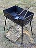 Мангал кованный раскладной чемодан (кочерга и совок), на 8 шампуров