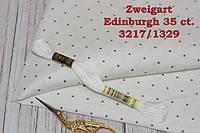 Ткань равномерного переплетения Zweigart Edinburgh 35 ct. 3217/1329 Белый с серыми мини точками