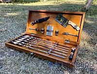 Набор подарочный для пикника, ручной работы (шампура и аксессуары), модель 2, фото 1