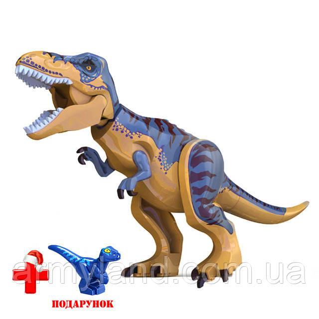 Динозавр Теранозавр Серебристый Юрский период Конструктор, аналог Лего