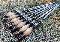 Шампура ЛЮКС, с деревяной ручкой и гравировкой