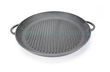 Сковорода-гриль круглая с двумя литыми ручками чугунная Ситон 26 см Г260, фото 2