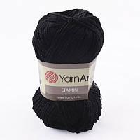 Пряжа Etamin (этамин)30гр - 180м (422 Черный)YarnArt, 100% акрил, Турция