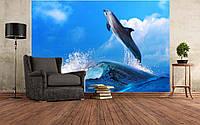 """Фото Обои """"Волна и дельфин"""""""