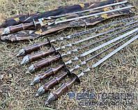 Набор шампуров КАБАНЫ, ручной работы (6 шт, двойной шампур + чехол тубус), фото 1