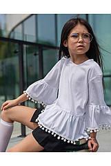 Школьная блуза для девочек sh-69 Barbarris Размеры 128, 140