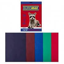 Набор бумаги д / печати цвет. А4 5 Когда. 20арк BUROMAX микс DARK 80г / м2 (1/150)