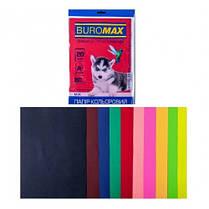Набор бумаги д / печати цвет. А4 10 Когда. 20арк BUROMAX микс DARK + NEON 80г / м2 (1/150)